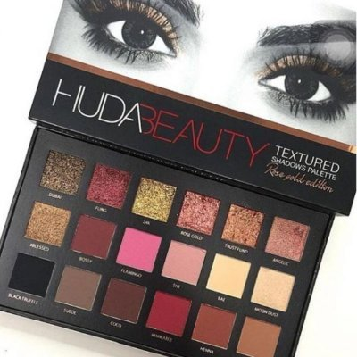 ПАЛЕТКА ТЕНЕЙ HUDA BEAUTY TEXTURED SHADOWS PALETTE — ROSE GOLD EDITION