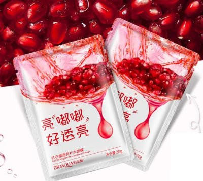 BioAqua Red Pomegranate Антиоксидантная маска для лица.